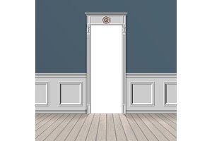 empty room through the open door