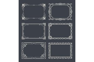 Chalk Style Set of Vintage Frames