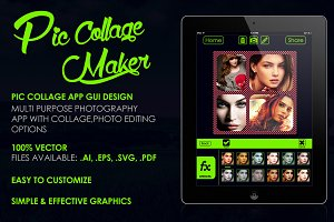 Pic Collage App GUI Design