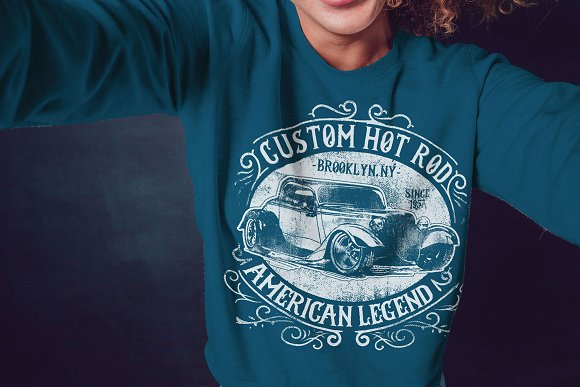 3 Vintage Tshirt Designs About Cars