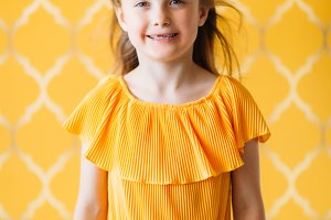 Photo of little girl in dress