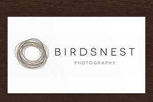 Birdsnest photography logo - PSD