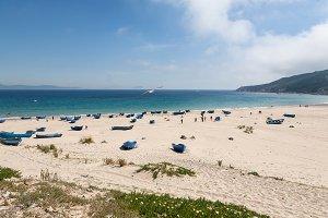 Landscape with sandy beach