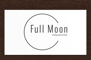 Full Moon Restaurant Logo - PSD
