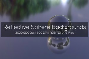 Reflective Sphere Backgrounds