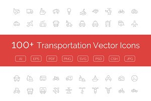 100+ Transportation Vector Icons