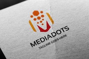 Letter M - Mediadots Logo