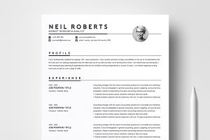 Clean Resume Template | Word CV