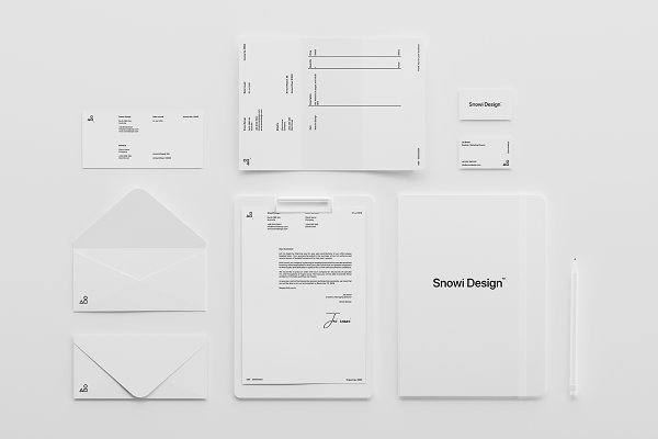 Stationery Templates: S48 Mockups - Minimal White Brand Mockup Pack