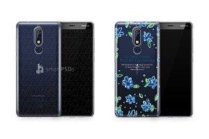 Nokia 5.1 UV TPU Clear Case Mockup