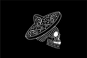Mexican skull icon side on