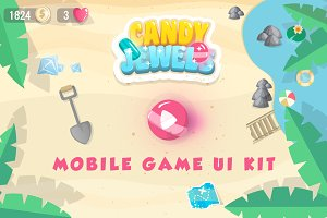 CandyJewels Mobile Game UI Kit