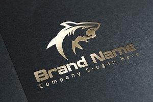 Modern Shark Logo - Vector & Mock-Up