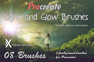 Procreate Light & Glow Brushes