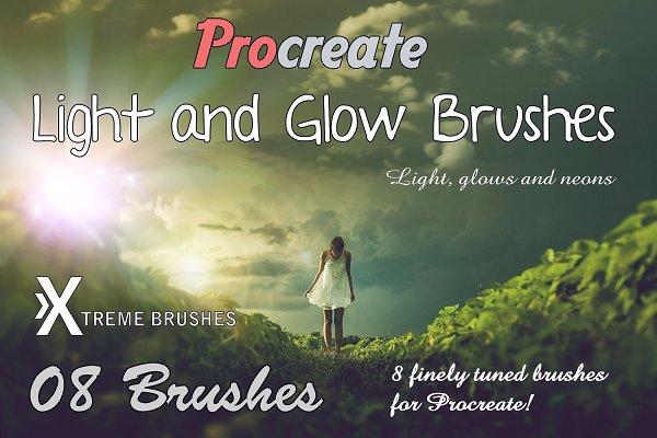 Procreate Light & Glow Brushes