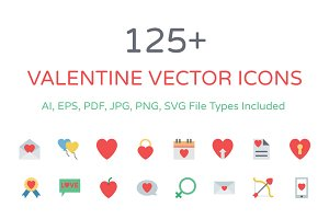 125+ Valentine Vector Icons