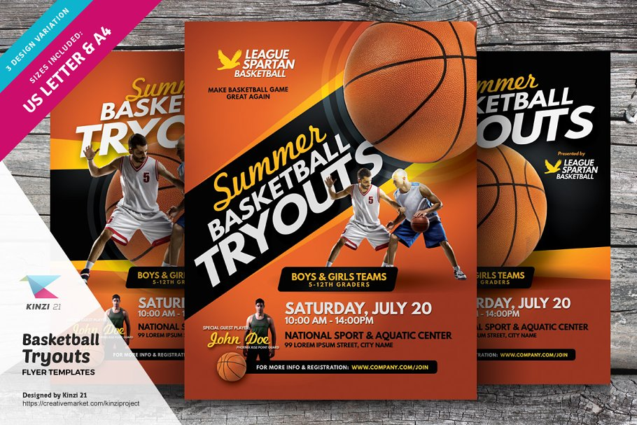 Basketball Tryouts Flyer Templates ~ Flyer Templates