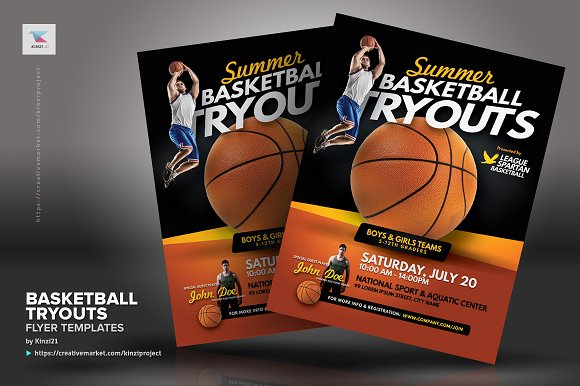 basketball tryouts flyer templates flyer templates creative market