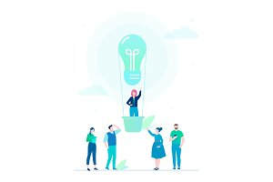 Business idea - flat illustration