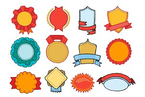 Badge vector retro sticker or