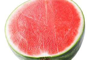 Half watermelon  isolated on white b