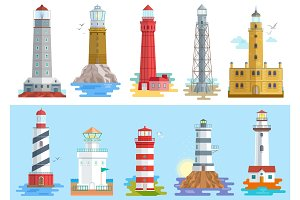 Lighthouse vector beacon lighter