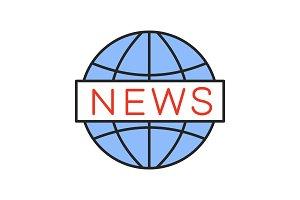 Global news color icon