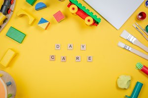 Day care concept - toy and art