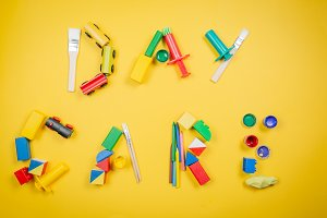 Day care concept - Letters made of