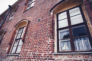 Red brick building facade