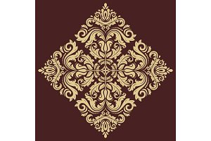 Floral Vector Pattern. Orient