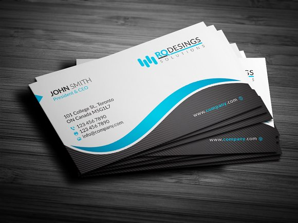 Corporate business card 12 business card templates creative market corporate business card 12 business cards reheart Images