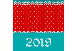 2019 knitted template for greeting