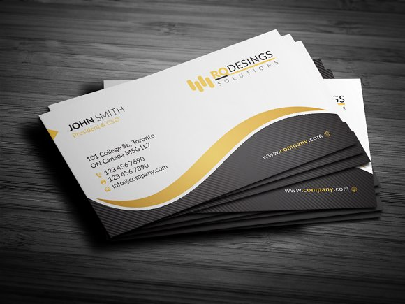 Corporate business card 12 business card templates creative market reheart Gallery
