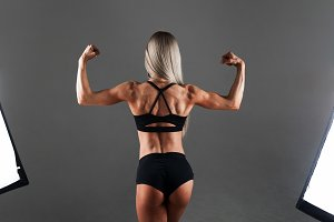 Strong Athletic woman Fitness Model