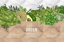 Only green vegetables