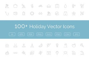 100+ Holiday Vector Icons