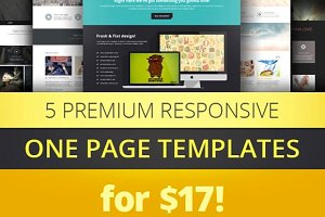 One Page Parallax Bootstrap Bundle