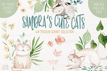Sandra's Cute Cats by  in Illustrations