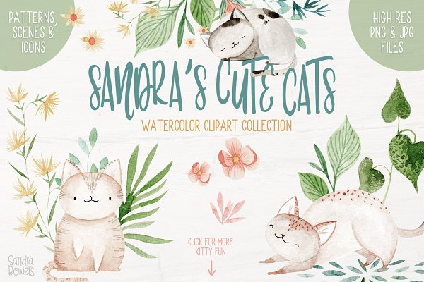 Illustrations and Illustration Products: Sandra Bowers - Sandra's Cute Cats