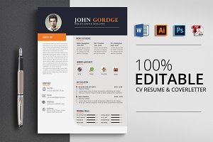 CV Word Resume Template