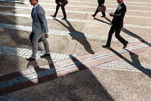 People walking to office