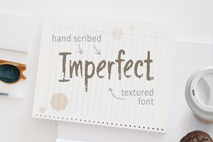 Imperfect Hand Script Textured Font