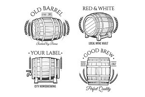 Barrel retro emblems