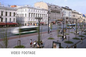 Nevsky Prospect. Time lapse.