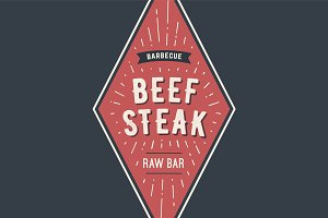 Logo BBQ Beef Steak