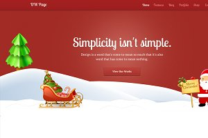 DW One Page Christmas - WP Theme