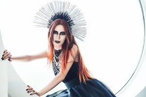 Gothic fashion: beautiful young girl