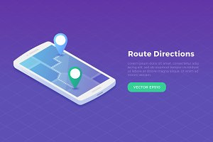 Route Directions Smartphone