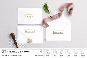 Wedding Invite & Envelope Mockup